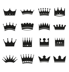 set modern crowns icons vector image