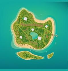 several tropical islands in the open ocean vector image