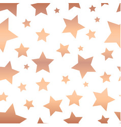 Shiny copper foil stars seamless pattern vector