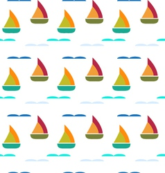 ship in sea seamless pattern vector image