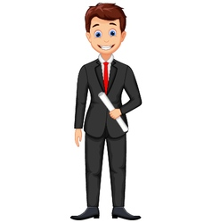 Smiling business man cartoon vector