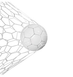 soccer or football 3d ball isolated on white vector image