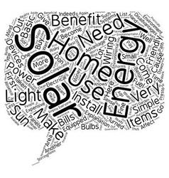 Solar home energy 1 text background wordcloud vector