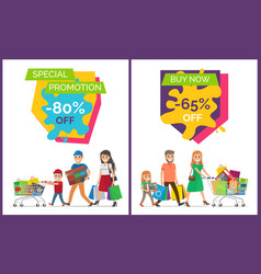 special promotion buy now vector image