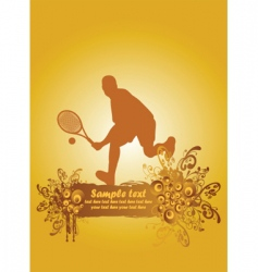 tennis poster1 vector image