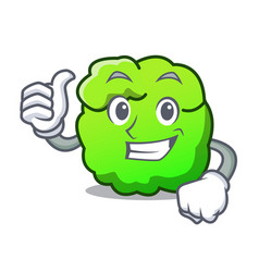 Thumbs up shrub character cartoon style vector
