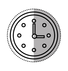 Time clock watch isolated icon vector
