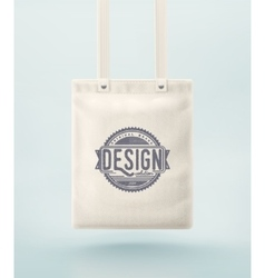 Tote Bag vector image
