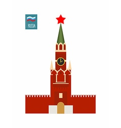 Tower moscow kremlin sight of russia vector