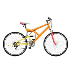 Two suspension mountain bike vector