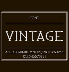 vintage font alphabet vector image