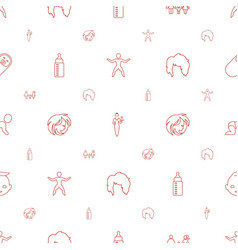 young icons pattern seamless white background vector image