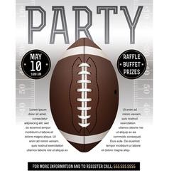 American football party flyer silver vector