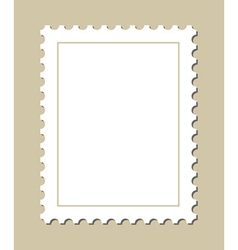 Blank postage stamp vector