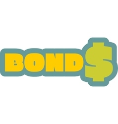 Bonds outline yellow sticker vector image vector image