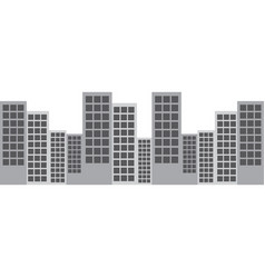 city skyline buildings icon image vector image