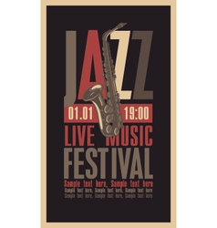 jazzfest vector image vector image