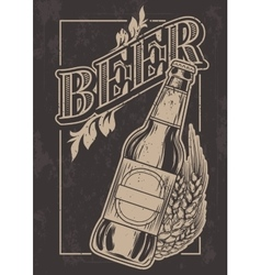 vintage template for cold beer advertising vector image vector image