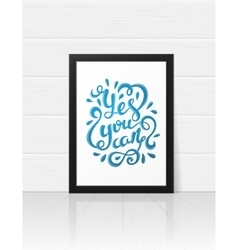 Yes you can poster vector image