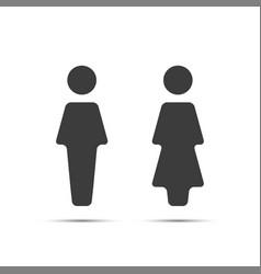 grey wc icon toilet vector image vector image