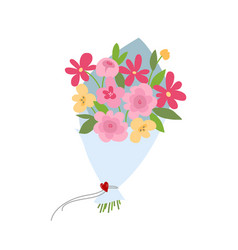 spring bouquet of flowers valentines day wedding vector image vector image