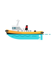 steamboat isolated on white vector image vector image