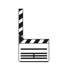 color silhouette image movie clapperboard icon vector image vector image