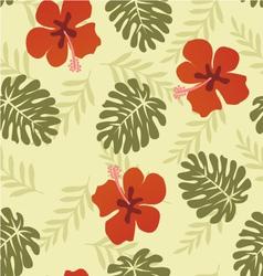 flower pattern hibiscus vector image