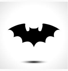 flying bat silhouette vector image