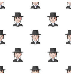jewhuman race single icon in cartoon style vector image