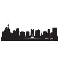 Orlando Florida skyline Detailed city silhouette vector image vector image