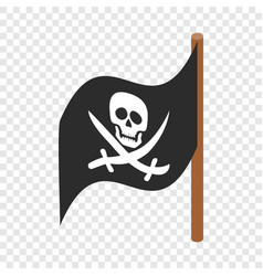 pirate flag isometric icon vector image