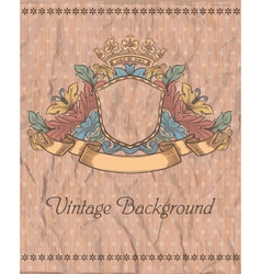 emblem on the vintage background vector image vector image
