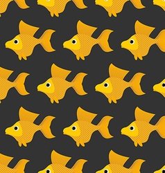 Goldfish seamless pattern background of fabulous vector image