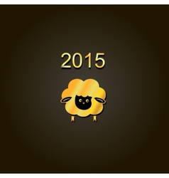 new year lamb golden design Symbol of 2015 Sheep vector image vector image