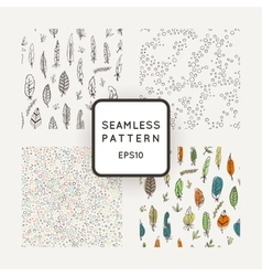 Set of four abstract seamless patterns made vector image