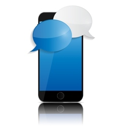 Abstract Design Mobile Phone with Speech Bubbles vector