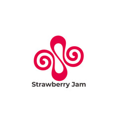 Abstract letter s strawberry jam symbol vector