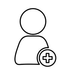 Abstract Pictogram icon Person design vector