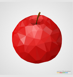 abstract red polygonal apple vector image