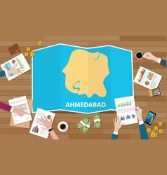 Ahmedabad india city region economy growth vector