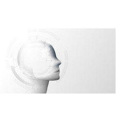 ai artificial intelligence ai digital brain vector image