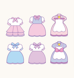 anime costumes design vector image
