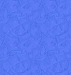 Azure seamless curved rectangle pattern background vector