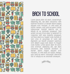 back to school concept contains seamless pattern vector image