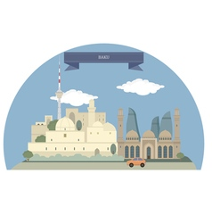 Baku vector image
