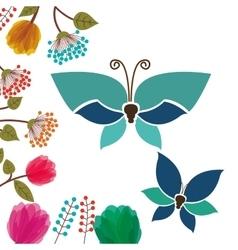 Beautiful butterflies design vector