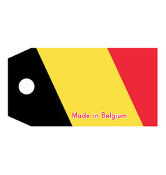 Belgium flag on price tag with vector