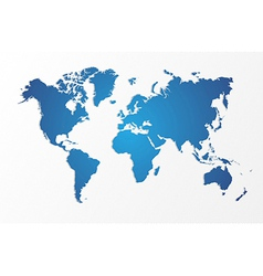 Blue World map isolated shape EPS10 file vector