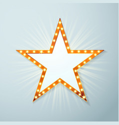 Bright light bulb cinema star symbol layout vector